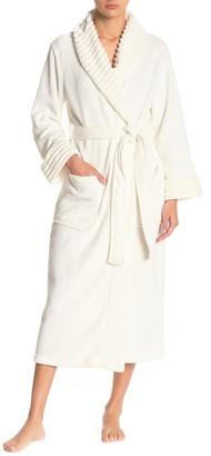 Carole Hochman Rib Shawl Collar Waist Tie Robe