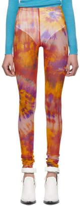 MSGM Multicolor Tie-Dye Leggings