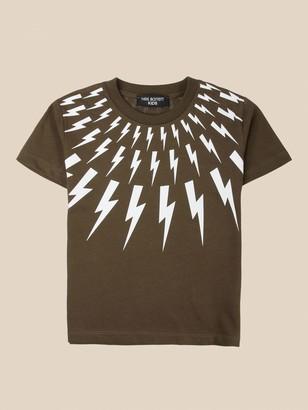 Neil Barrett T-shirt With Lightning Print