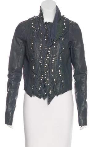 Givenchy Leather Embellished Jacket