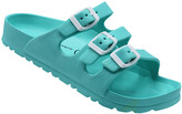 Jessica Carlyle Women's Sandals TURQUOISE - Turquoise Triple-Strap Summer Sandal - Women