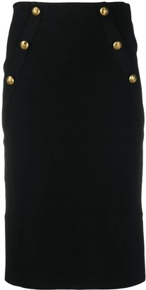 Pinko Embossed-Button Skirt