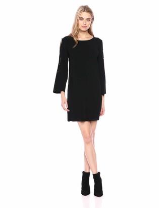 Milly Women's Knit Button Long Sleeve Dress
