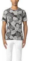 Vince Heather Leaf Print Tee