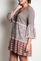 Umgee USA Printed Babydoll Dress