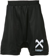 11 By Boris Bidjan Saberi drop-crotch logo shorts