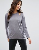 New Look Cut Out Shoulder Long Sleeve Top