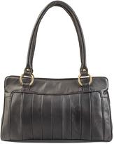 Visconti Brown Stripe Leather Tote