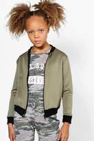 Boohoo Girls Scuba Bomber Jacket