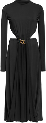 Dodo Bar Or Tina Buckle-Detailed Cutout Crepe Dress