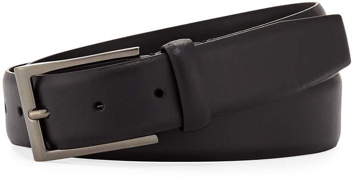 Ermenegildo Zegna Fixed-Buckle Leather Belt