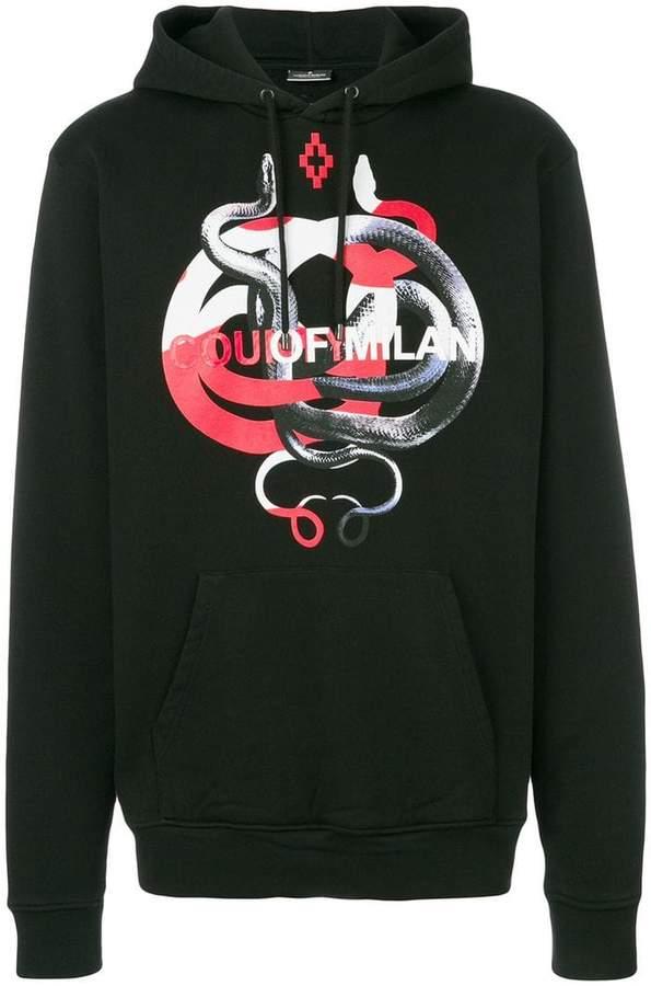 Marcelo Burlon County of Milan snake motif hoodie