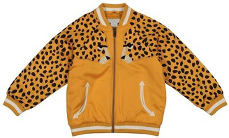 Stella McCartney Kids Cheetah-print satin bomber jacket