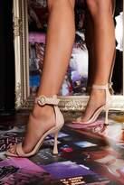 Quiz Nude Flare Heeled Sandal