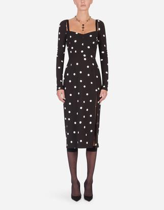 Dolce & Gabbana Calf-Length Dress With Polka-Dot Print