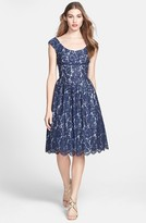 Maggy London Lace Fit & Flare Dress