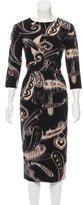 Etro Printed Wool Dress w/ Tags