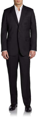 Saks Fifth Avenue Classic-Fit Solid Wool & Silk-Blend Suit