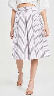 See by Chloe Striped Midi Culottes