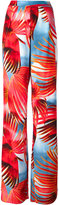 Just Cavalli tropical print palazzo pants - women - Viscose - 38