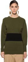 Marni Belted Wool Knit Sweater
