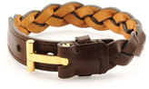 Tom Ford Nashville Men's Braided Leather Bracelet, Light Brown