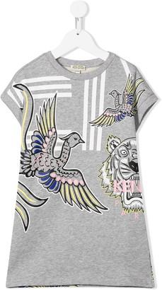 Kenzo Kids logo graphic print T-shirt dress