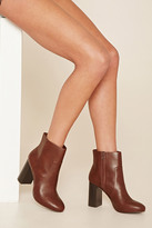 Forever 21 FOREVER 21+ Faux Leather Ankle Booties