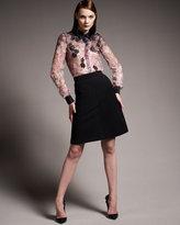 Valentino Compact Jersey Skirt