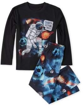 Children's Place The Long sleeve printed 'gravity defying skills' 2 piece pajama set (little boy & big boy)