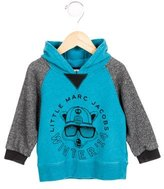 Little Marc Jacobs Boys' Hooded Logo Print Sweatshirt