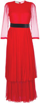Gucci tiered maxi dress - women - Silk/Viscose/Polyimide - 42