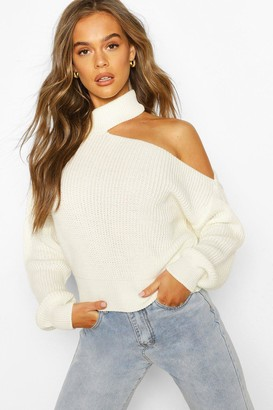 boohoo Cut Out Knitted Jumper