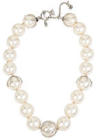 Betsey Johnson Blue by Faux-Pearl Collar Necklace