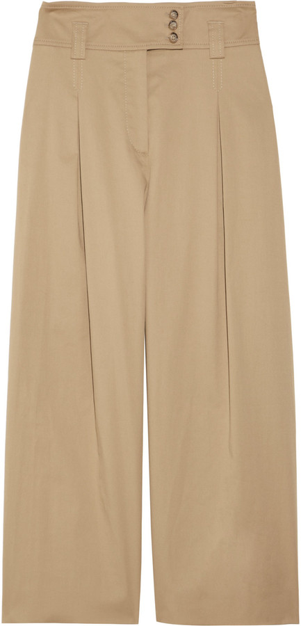 RED Valentino Cropped stretch-cotton pants