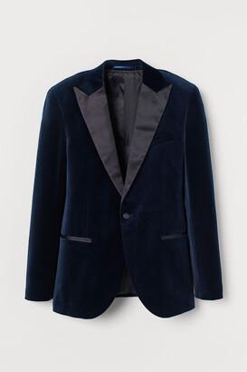 H&M Velvet tuxedo jacket Slim Fit