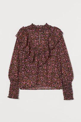 H&M Smocking-detail blouse