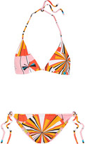 Emilio Pucci Reversible Printed Triangle Bikini - Orange