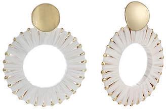 Bijoux Bar Raffia Round Drop Earrings