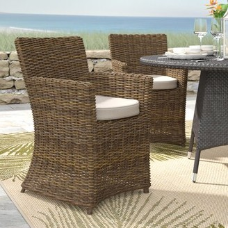Beachcrest Home Camryn Patio Dining Chair with Cushion (Set of 2