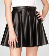 Fred Flare Bangles Studded Faux Leather Skirt