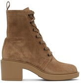 Thumbnail for your product : Gianvito Rossi Tan Suede Foster Lace-Up Boots