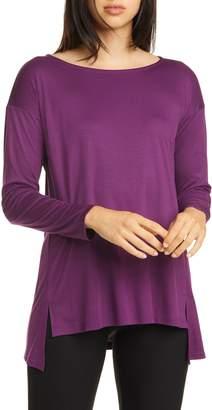 Eileen Fisher Ballet Neck Long Sleeve Top