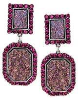 fonk store_CA fonk_CA:: Luxury Elegant Women Fashion Vintage Colorful Lucite Emerald Shape Statement Long Earrings Jewelry