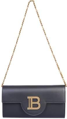 Balmain Logo Plaque Fold-Over Clutch Bag