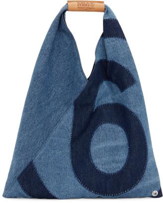 MM6 MAISON MARGIELA Blue Denim Small Japanese Tote