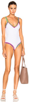 Kiini Yaz Scoop Back Swimsuit in White.