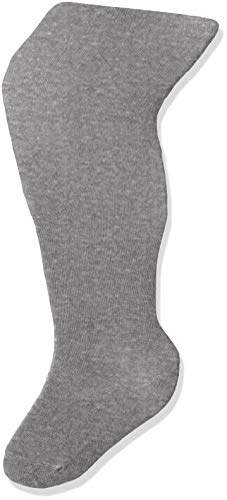 Melange Home Melton Girls' Basic Strumpfhose Tights, (Light Grey 135), 35-38 (Herstellergröße: 9-10Y) UK