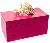 Mapleton Drive Large Lacquer Box with Coral Top