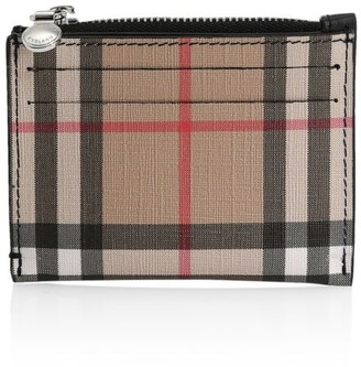 Burberry Simone Vintage Check Zip Card Case